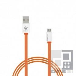 Câble micro USB plat orange