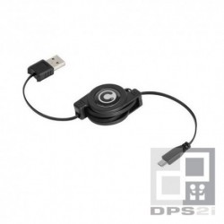 Câble micro USB avec enrouleur