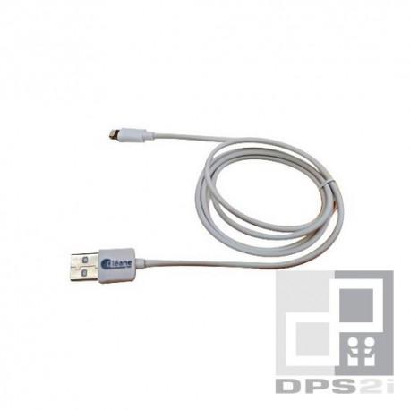 Câble charge et synchro MFI iphone ipad ipod blanc 1m