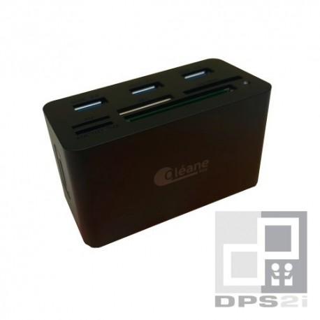 Lecteur de cartes mémoires + hub combo usb 3.0 pour mac, pc, smartphone et tablettes