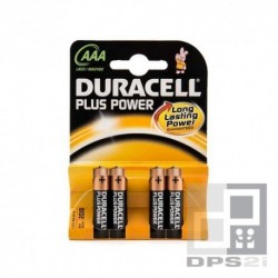 4 piles AAA LR03 Duracell