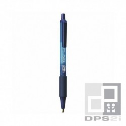 Stylo bleu Bic soft feel
